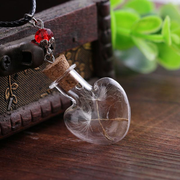 Heart Shape Bottle Pendant Necklace