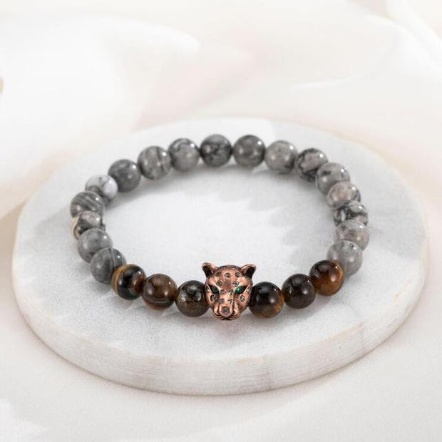 Animal Head Leopard Bracelet