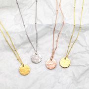 Hammered Coins Necklace