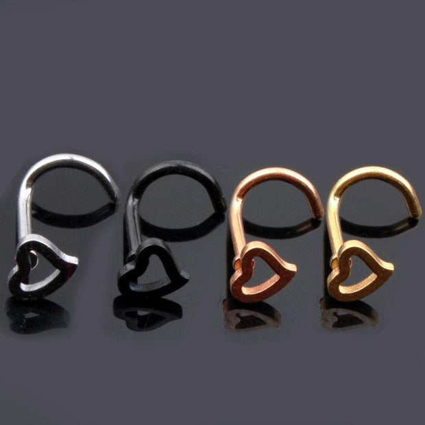 Heart Shape Nose Studs