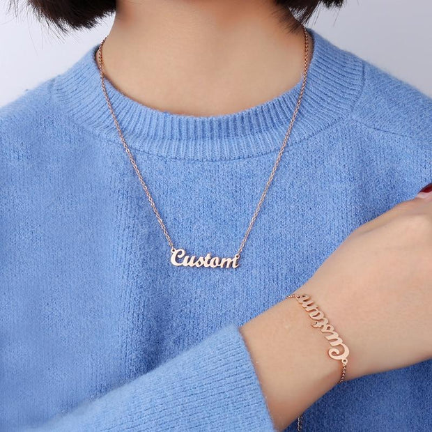 Cursive Nameplate Necklace