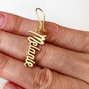 Vertical Name Drop Earrings