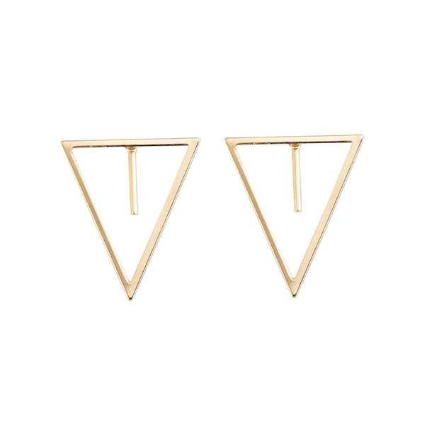 Geometric Triangle Statement Earrings