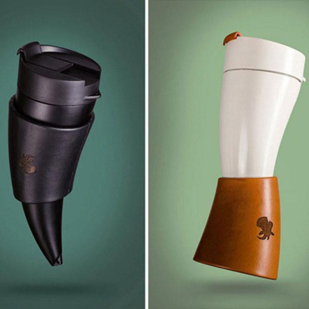 Goat Horn Shaped Coffee Mugs