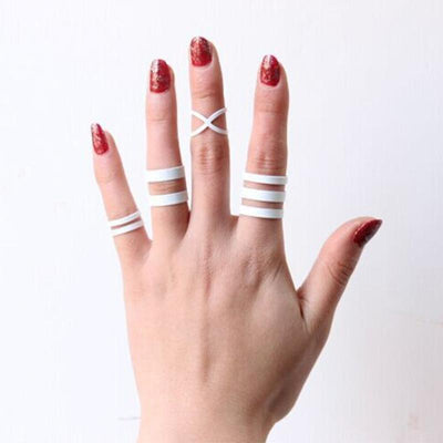 White Punk Lucky Rings