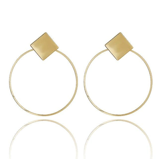 Metal Round Earrings