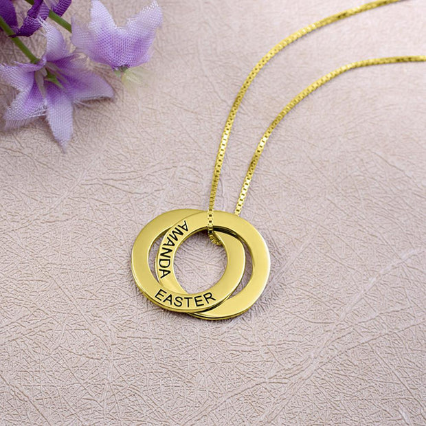 Custom Double Circle Necklace