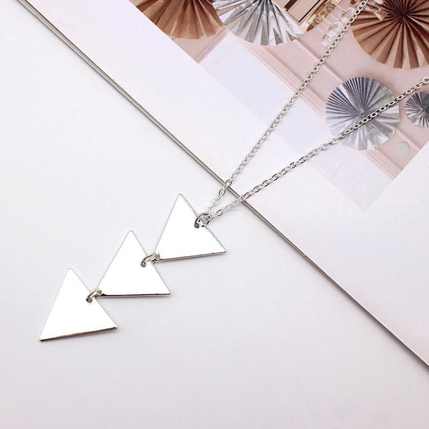 Triangle Long Chain Necklace