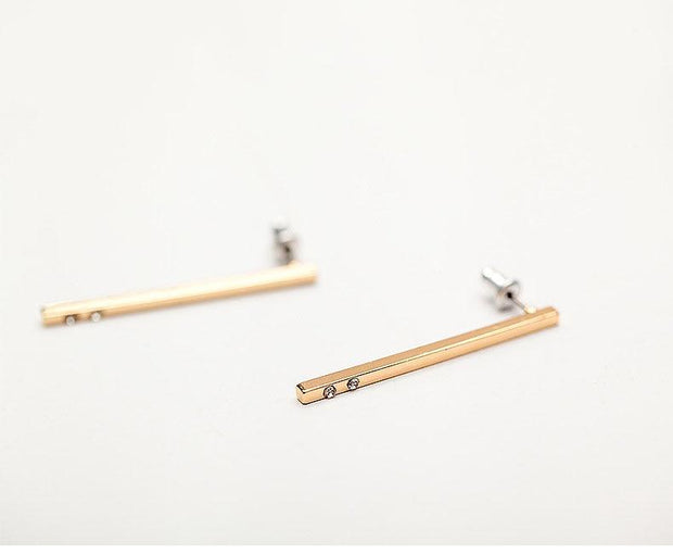 Stick Bar Stud Earrings