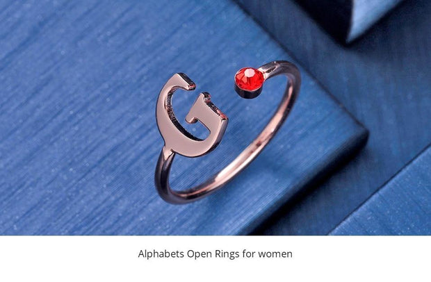 Birthstone Open Ring