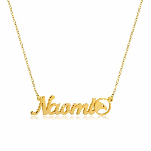 Cursive Symbol Necklace