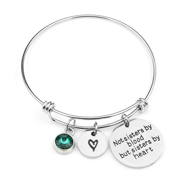 Not sisters by blood Birthstone Bracelets
