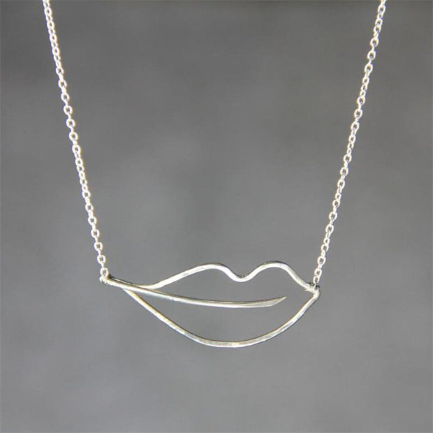 Lip Shape Necklace