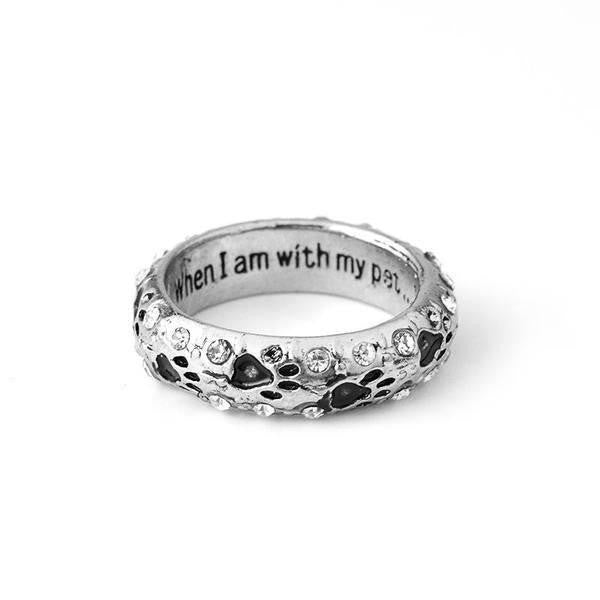 """WHEN I AM WITH MY PET... I AM COMPLETE"" RING"
