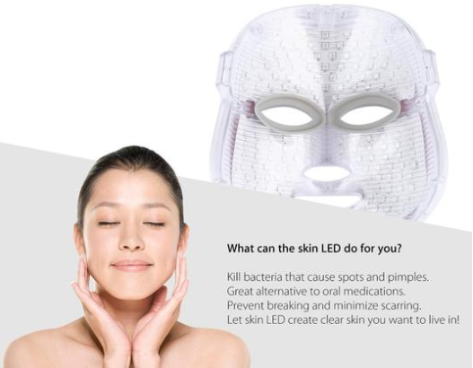 Photon Collagen Therapy LED Facial Mask with Neck Skin Rejuvenation