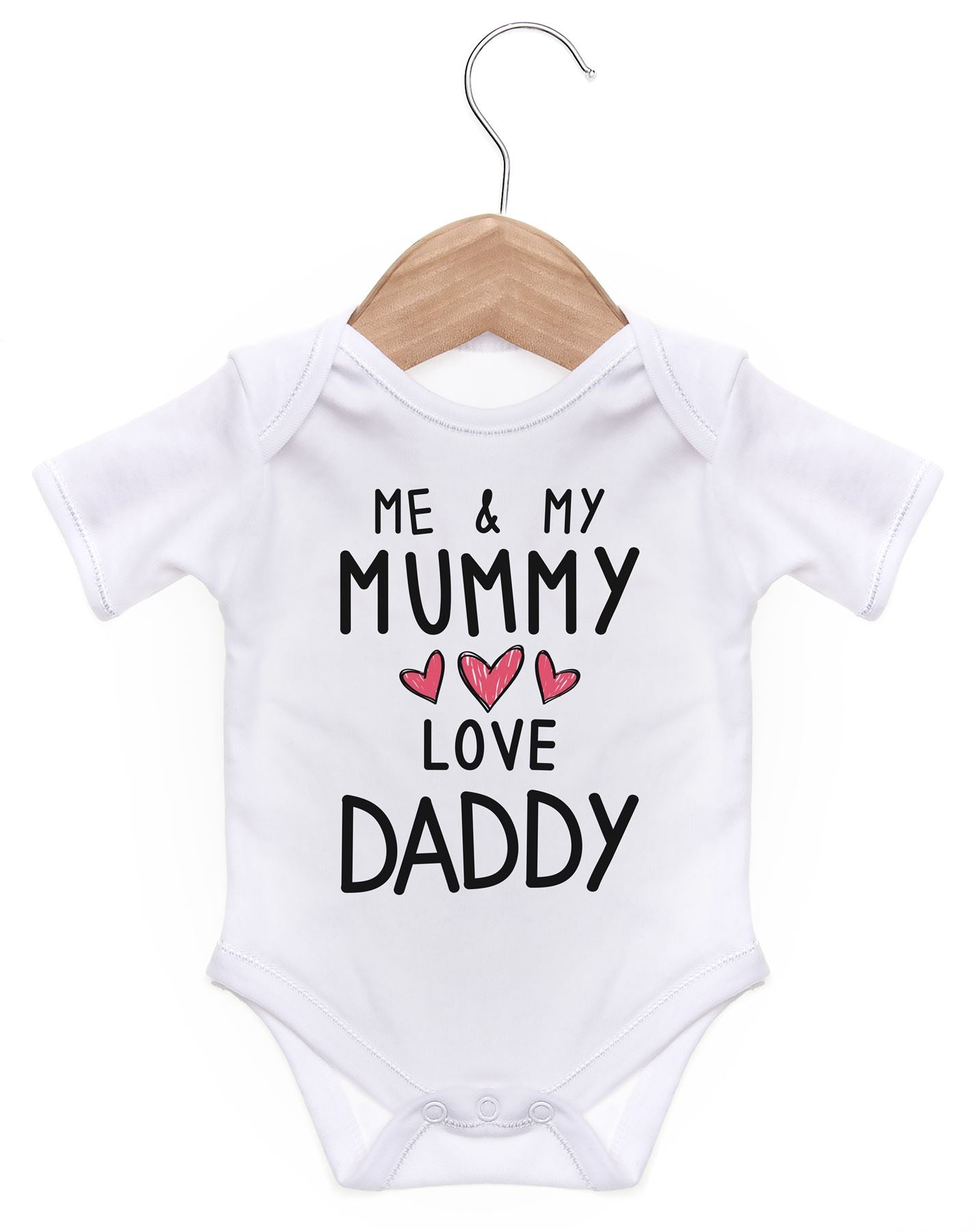 3b0355f8d Me And My Mummy Love Daddy Short Sleeve Bodysuit / Baby Grow For Baby Boy  Or Girl