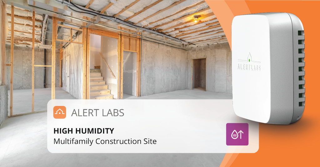 Humidity and temperature sensor for buildings under construction