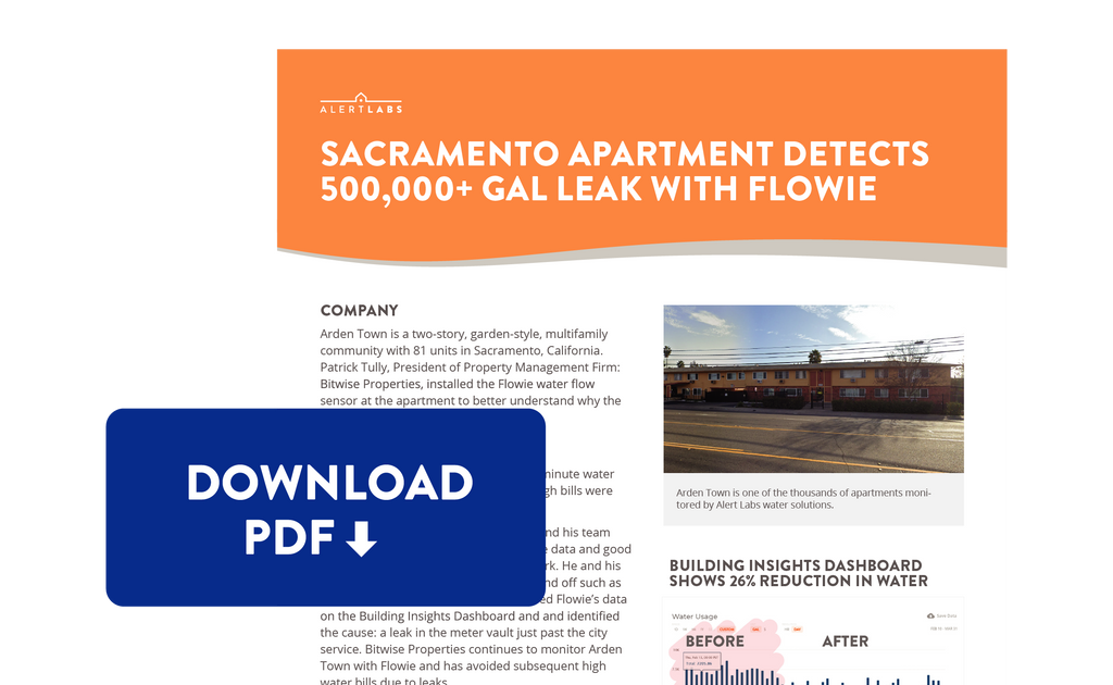 Download PDF of Sacramento Apartment Saves 500000 Gallons of Water with Flowie