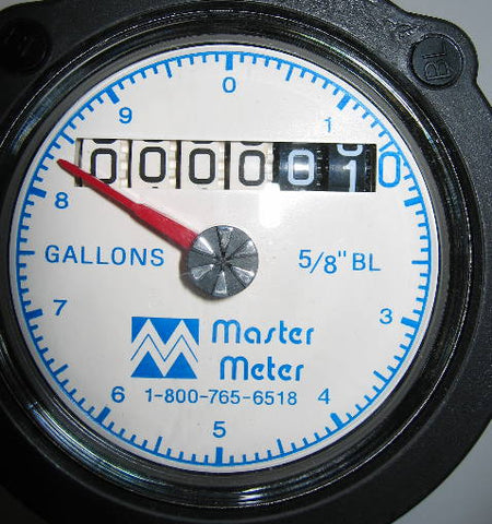 Water Meter | Analog with large sweep hand gallons