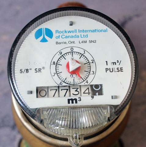 Water Meter | Analog Odometer with small sweep hand