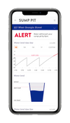 Alert Labs dashboard sumpie drilldown on smart phone