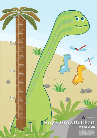 Dinosaur Percentile Growth Chart Boys