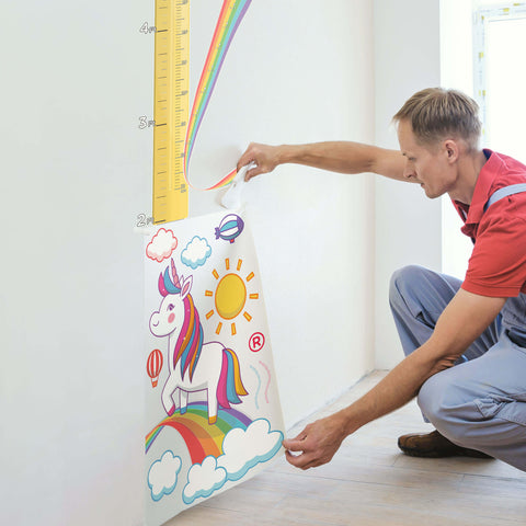 Growth Chart Wall Decal Install