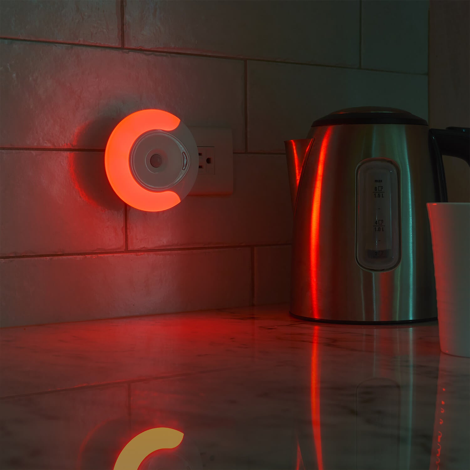Sleep Aid Motion Activated Night Light - Red