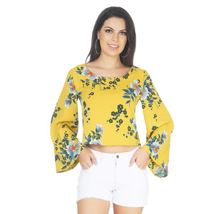 Bell Sleeves Floral Top