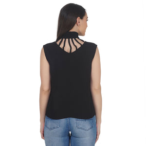 Peek-A-Boo High Neck Top