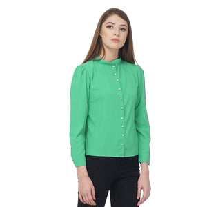 Formal Green Shirt