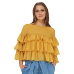 Triple Layer Yellow Frilly Top