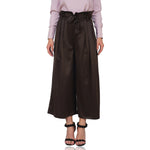 Metallic Paperbag Waist Trousers
