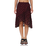 Cover Up Frilly Maroon Polka Skirt