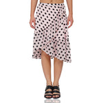 Cover Up Frilly Pink Polka Skirt