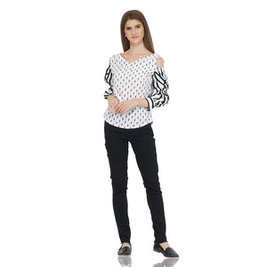Cold Shoulder Monochrome Top