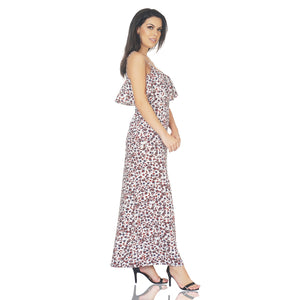 Noodle Strap Abtract Maxi Dress
