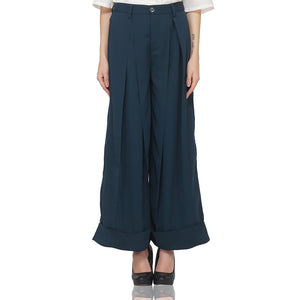 Inverted Bottom & Pleat Trousers