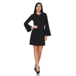 Bell Sleeves Black Dress