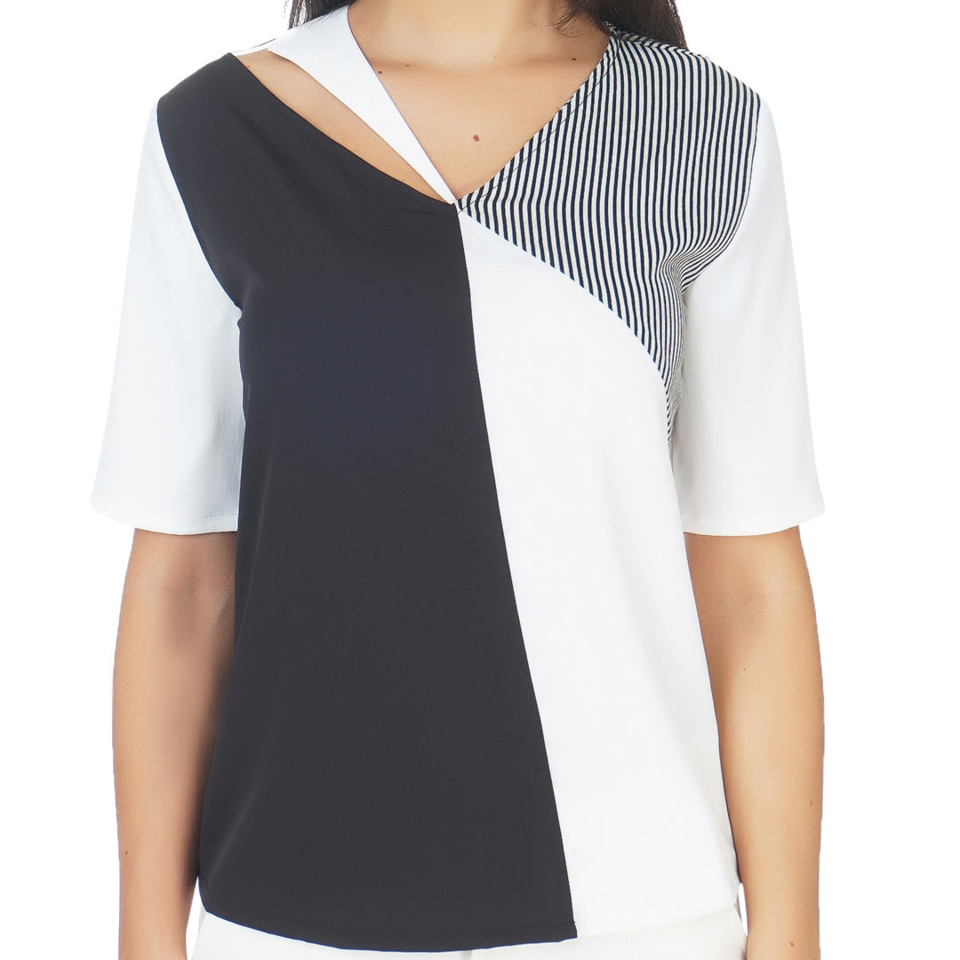 Monochrome Statement Top