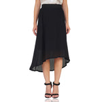 High Low Heavy Pleated Skirt