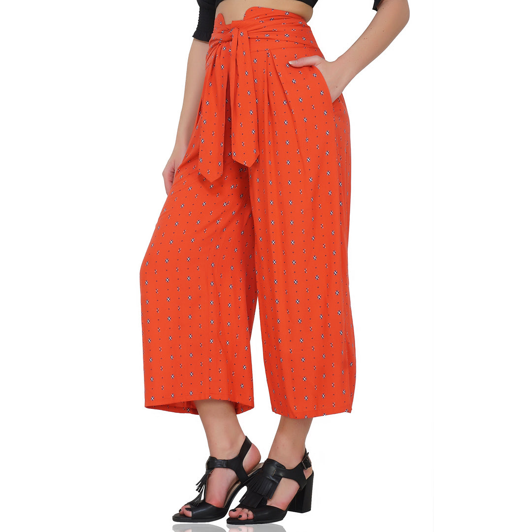 Red Tribal High waist Pants