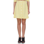 Buttoned Yellow Skirt