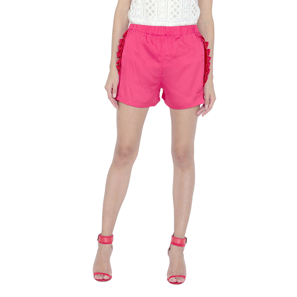 Pleated Side Shorts
