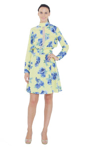 Full Sleeves Floral Dress