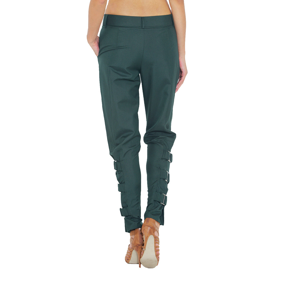 Side Buckle Military Pants