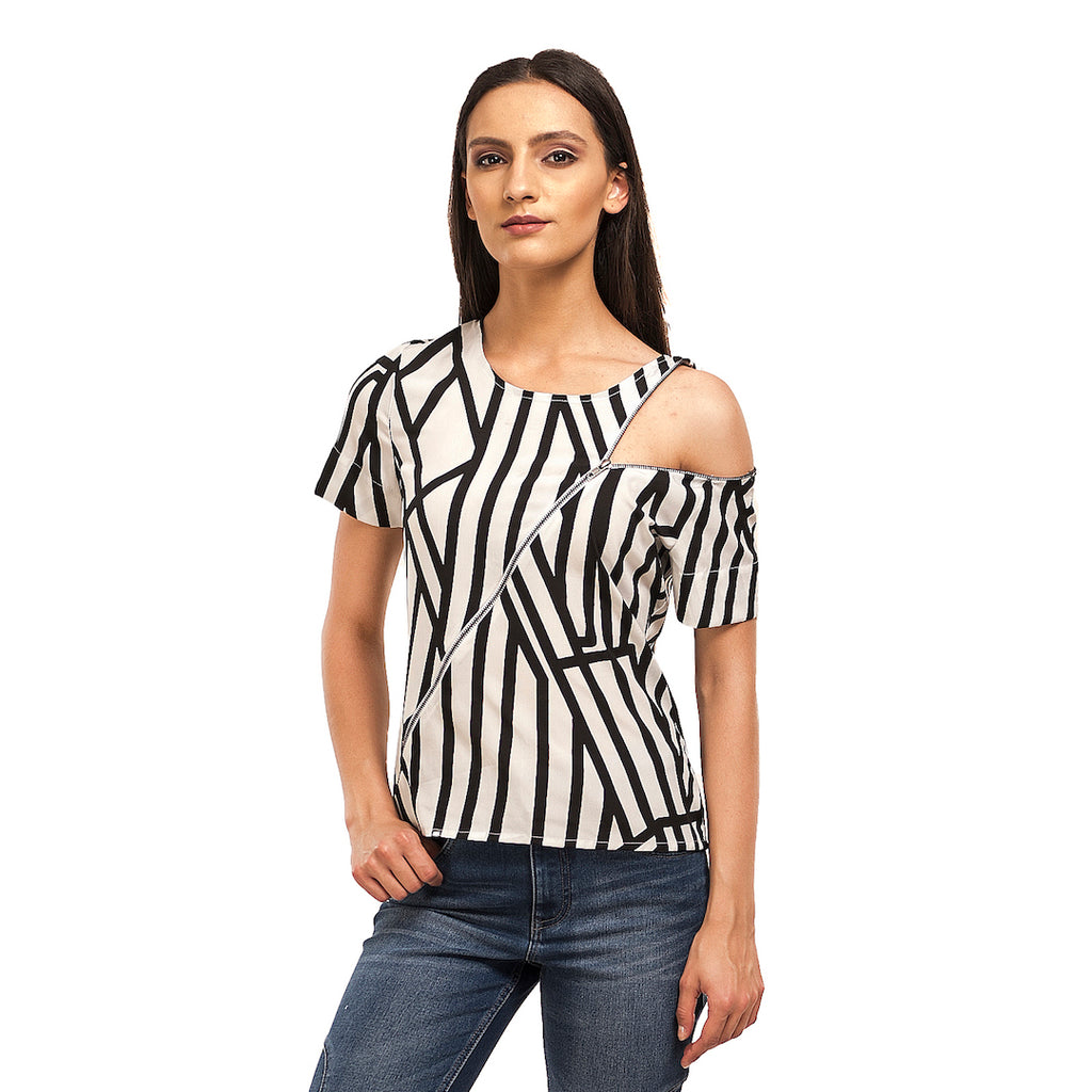Unzipped Monochrome Top