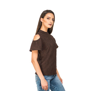 Cold Shoulder Coffee Top