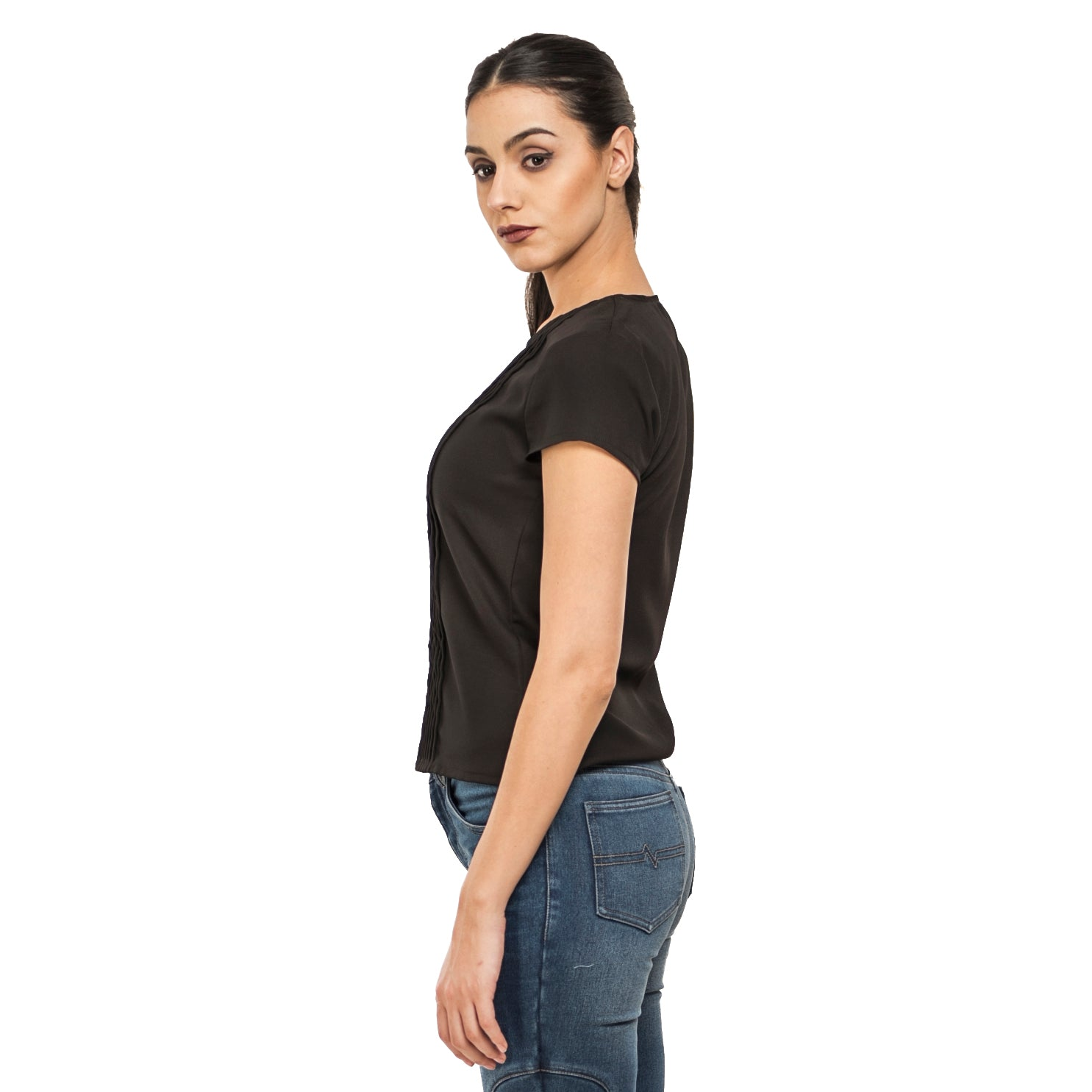 Back To Basics Pleated Top