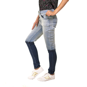 Colour Block Jeans
